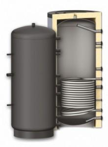 Rezervor de acumulare Woody, izolat, cu 1 serpentină PR1000-1000L