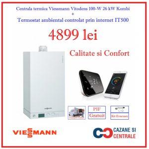 Pachet Viessmann Vitodens 100 26kw Combi+Salus IT500