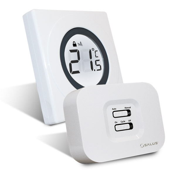 Termostat ambiental Salus ST620RF Touch Ring programabil, fara fir