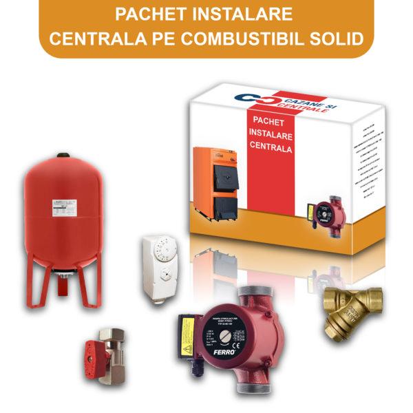 Pachet instalare centrala combustibil solid