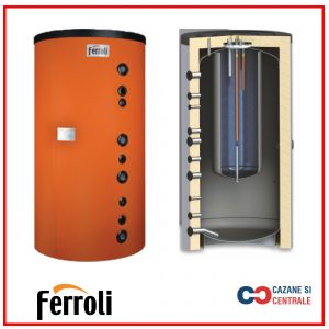 Puffer fara serpentina tip tank in tank Ferroli FBT 600 litri
