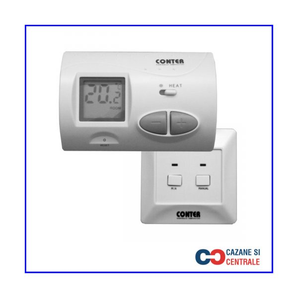 Termostat de ambient fara fir CT3W Conter