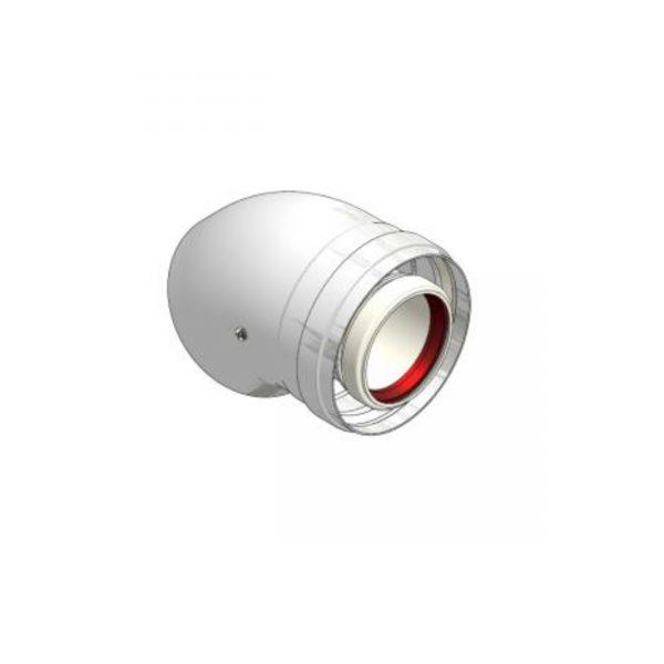 Cot prelungire kit evacuare centrala termica condensare 45° PP D=60/100