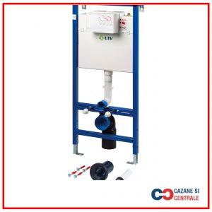 Sistem cu montaj ingropat in perete pentru rezervoare WC suspendat LIV – JOG