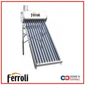 Panou solar nepresurizat din inox Ecosole -15 tuburi si boiler 150l (cu vas flotor 5L si tija de aerisire)