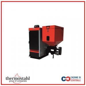 Cazan otel peleti-biomasa-lemn, THERMOSTAHL – seria ECOBIO 15 kW