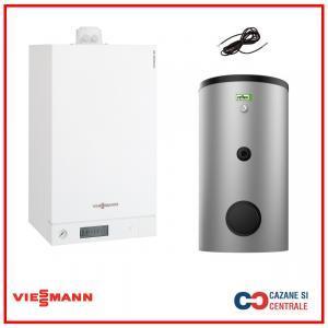 Pachet centrala termica Viessmann Vitodens 100-W 26 kW cu boiler monovalent Reflex 120 litri