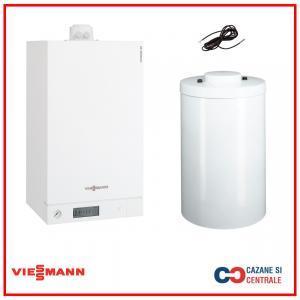 Pachet centrala termica Viessmann Vitodens 100-W 26 kW cu boiler monovalent Vitocell 200 litri