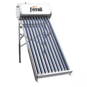 Panou solar presurizat din inox Ferroli Ecoheat 15 tuburi si boiler 150L