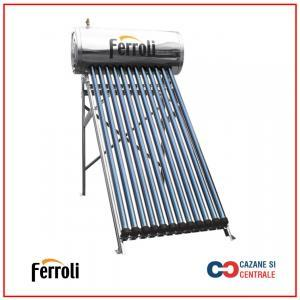Panou solar presurizat din inox Ferroli Ecoheat 12 tuburi si boiler 120L