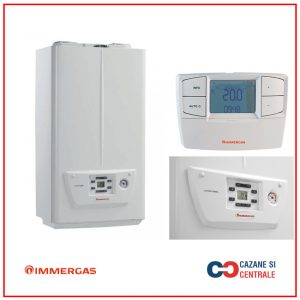 Centrala termica pe gaz in condensare IMMERGAS VICTRIX OMNIA 25, kit evacuare inclus