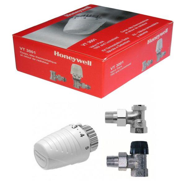 Set robinet cu cap termostatic si retur 1/2 Honeywell VTL320EA15