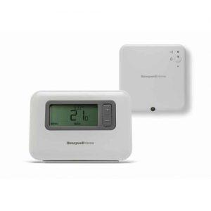 Termostat de ambient, wireless, Honeywell T3R, programabil, digital