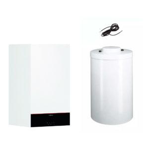 Pachet centrala termica Viessmann Vitodens 100-W 25 kW cu boiler monovalent Vitocell 200 litri